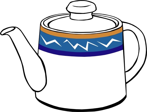 Teapot clipart Office clip drawing 232 Open