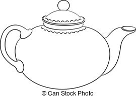 Templates  clipart teapot With a  round
