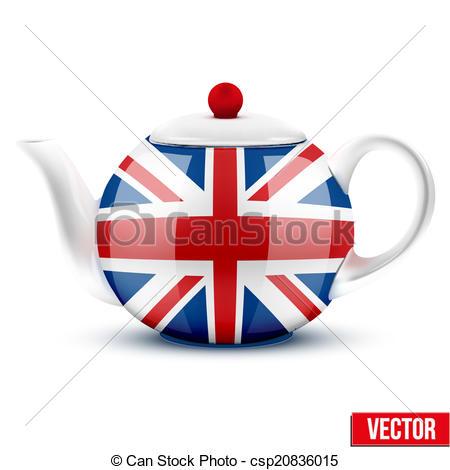 Teapot clipart british Great flag English Art ceramic