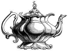 Teapot clipart british &  Vintage Free free