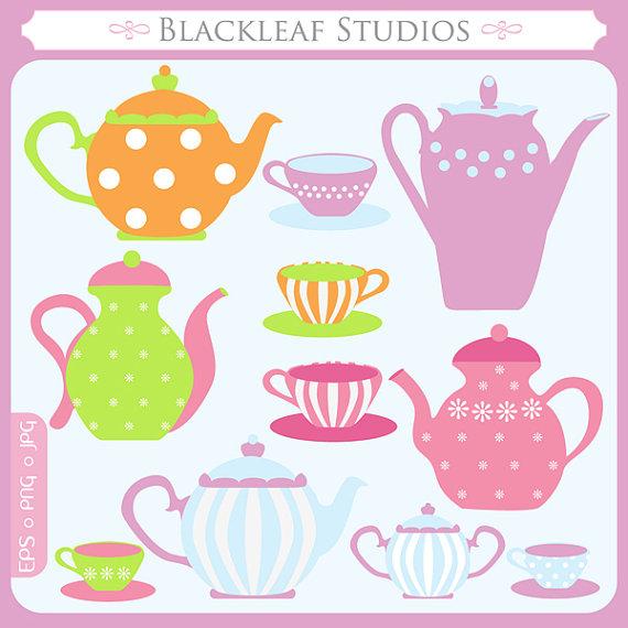 Teapot clipart cute Cute  cups tea Little