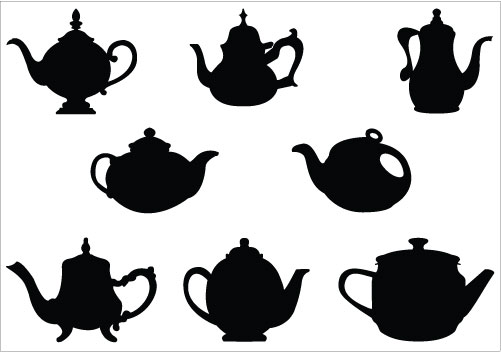 Alice In Wonderland clipart teapot Clip Free on Clipart Silhouette