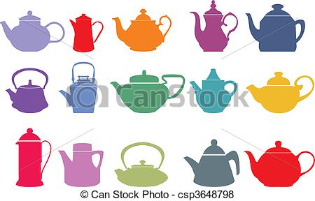 Teapot clipart fifteen Vector and  Teapot
