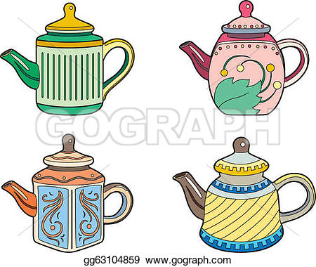Teapot clipart fifteen Small Clipart  Four Vector