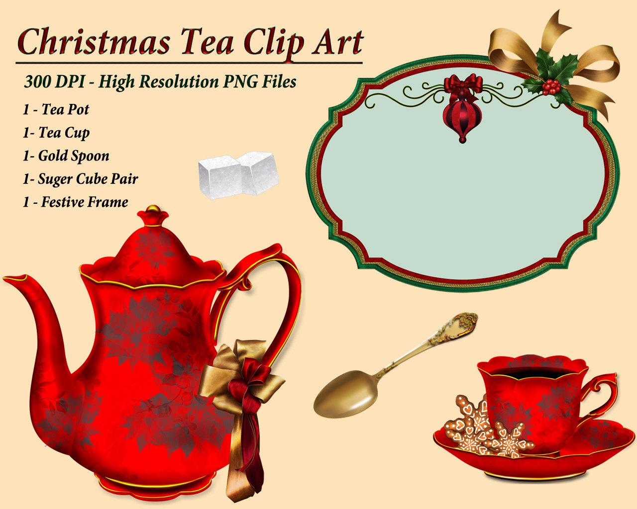 Teapot clipart gold Tea Clip Art Cup Christmas