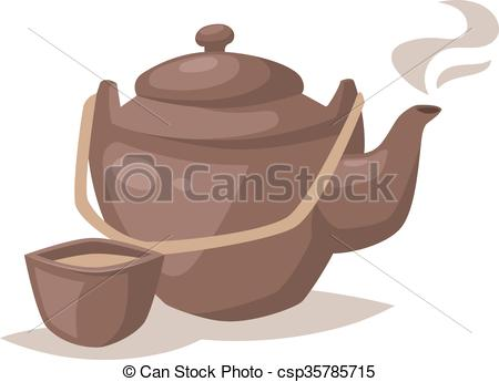 Teapot clipart hot Cup hot Gray cartoon collection