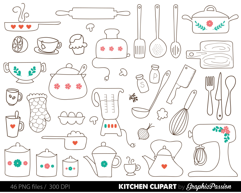 Teapot clipart kitchen utensil Kitchen Clipart Clipart Kitchen Clipart