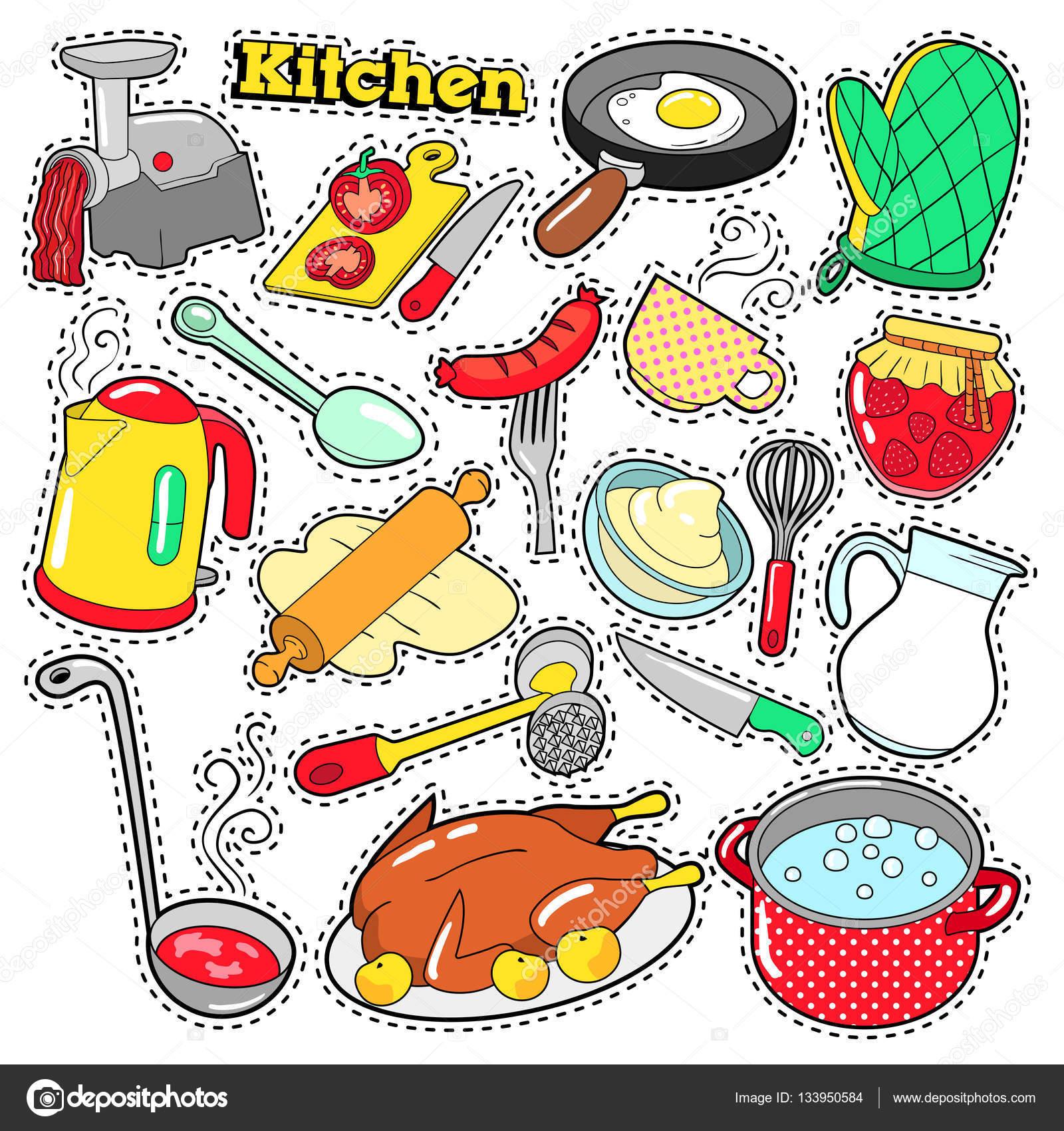Teapot clipart kitchen utensil Vector Cooking — Scrapbook Patches