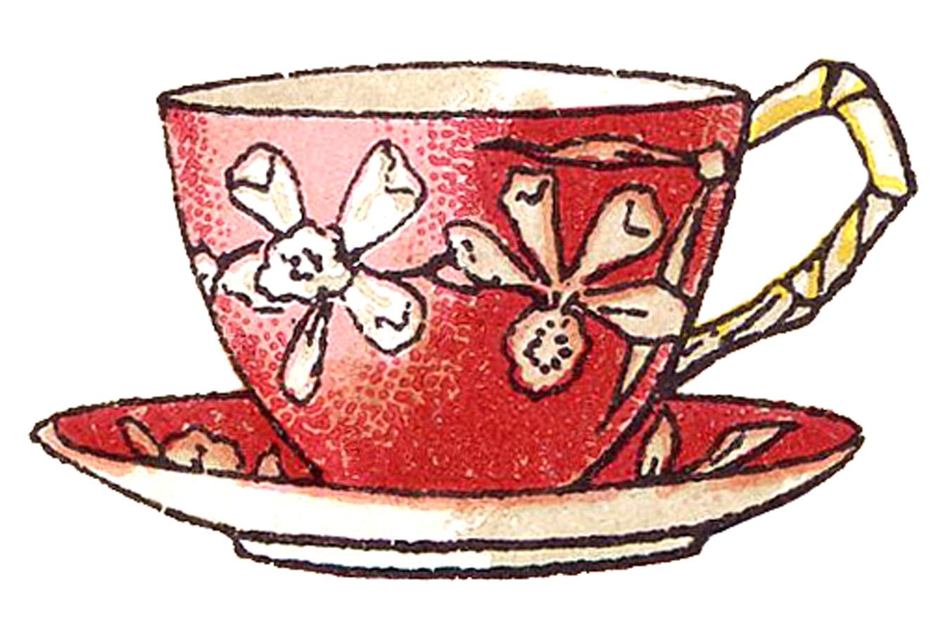 Teacup clipart vintage tea cup Graphics Graphics Image Floral Image