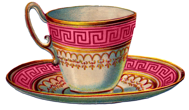 Teacup clipart vintage tea cup Clipart tea clipart set tea