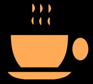 Teacup clipart orange Clker Art com Art Cup