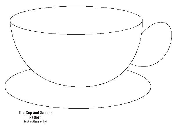 Teacup clipart outline My Template Cut hanging Template