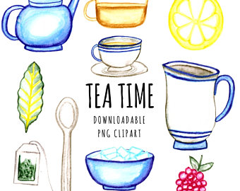 Teacup clipart poetry cafe Clipart Clipart Printable Clipart Etsy