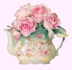 Teacup clipart rose And Teacup Vintage French Germany