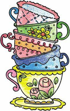 Teapot clipart tea biscuit Teacups and Find Tea TEA