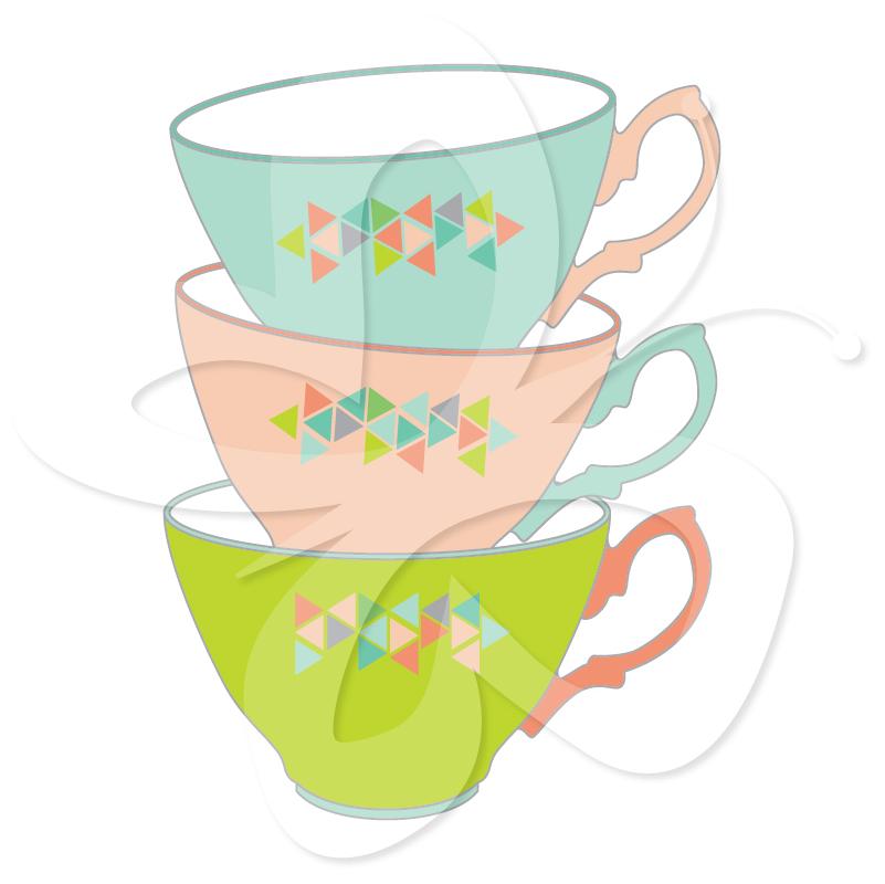 Teapot clipart teacup Clip Art Vintage  Pot
