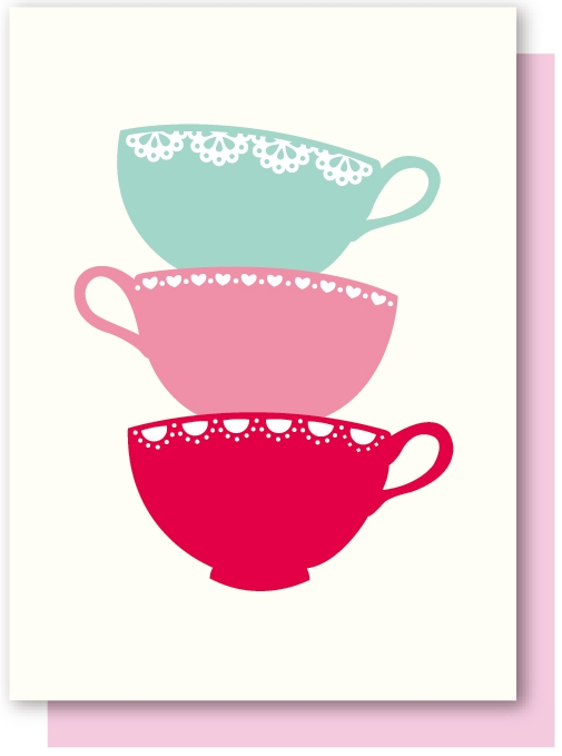 Teapot clipart teacup stack Afternoon Stack China cps Oak