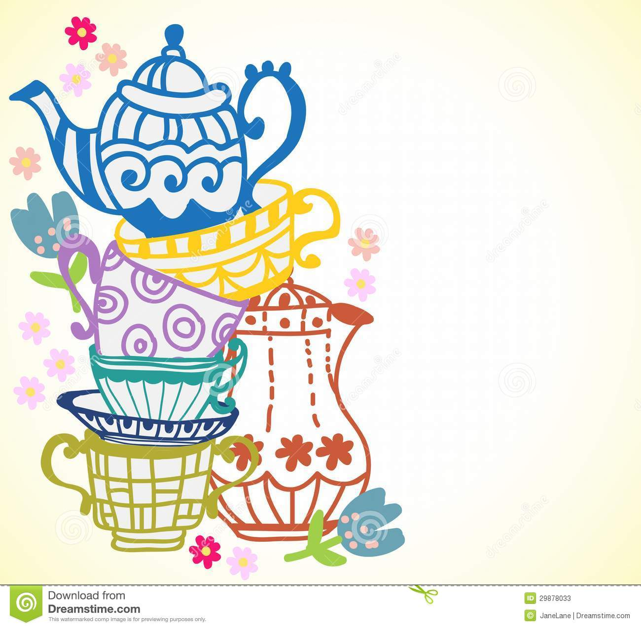 Teapot clipart teacup stack Art collection Clip and Cups