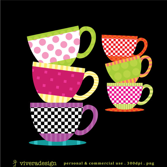 Teapot clipart teacup stack Party from Teacup Studio Patterned