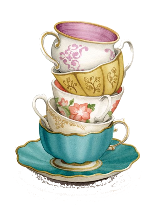 Teapot clipart teacup stack TRANSPARENCY PNG PNG OVERLAY STACK