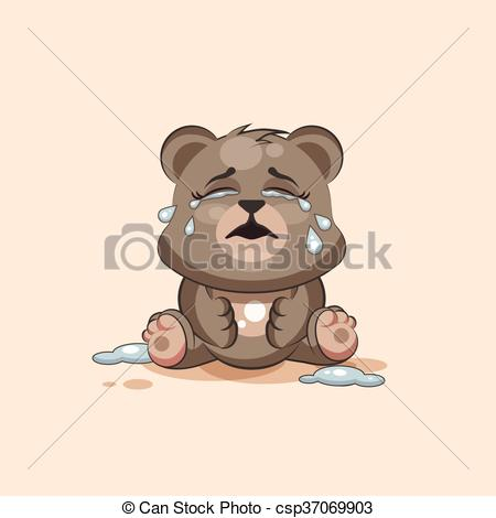 Tears clipart animated Character emoticon Emoji Bear of