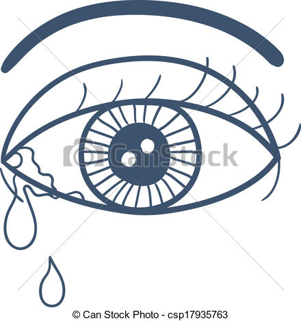 Tears clipart cried Tears white with isolated Vector