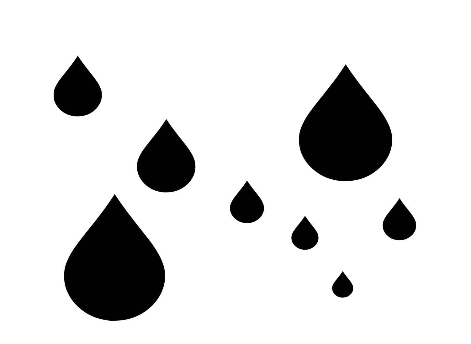 Raindrops clipart black and white Template art clip clipart
