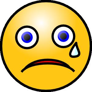 Tears clipart sad smile Sad Art Smiley face Clipart