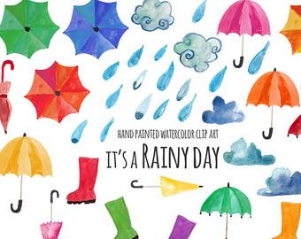 Tears clipart umbrella raindrops Etsy art art watercolor and