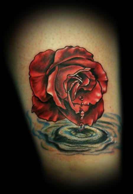 Drawn tears water dripping Vanessa of rose Chloe a