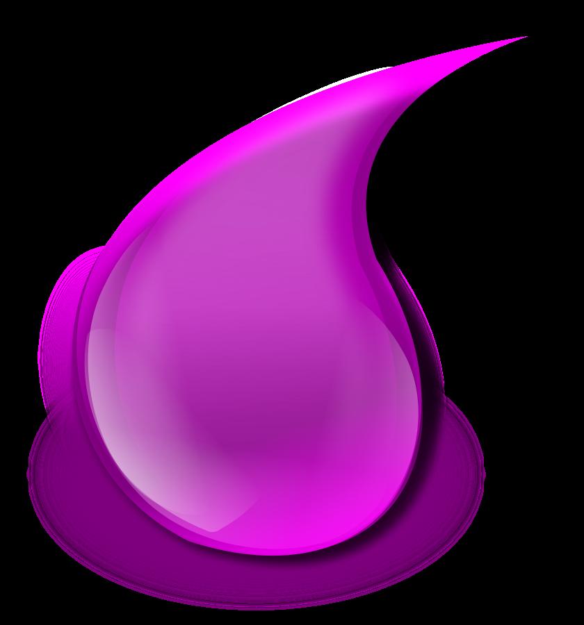 Waterdrop clipart purple #3