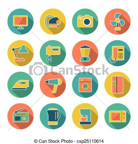 Technics clipart Of appliances  home Set