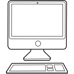 Display clipart black and white White white art black 3