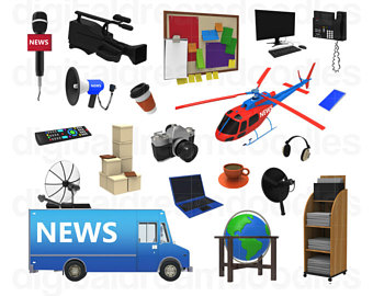 Technology clipart computer Art News Van Broadcasting PNG