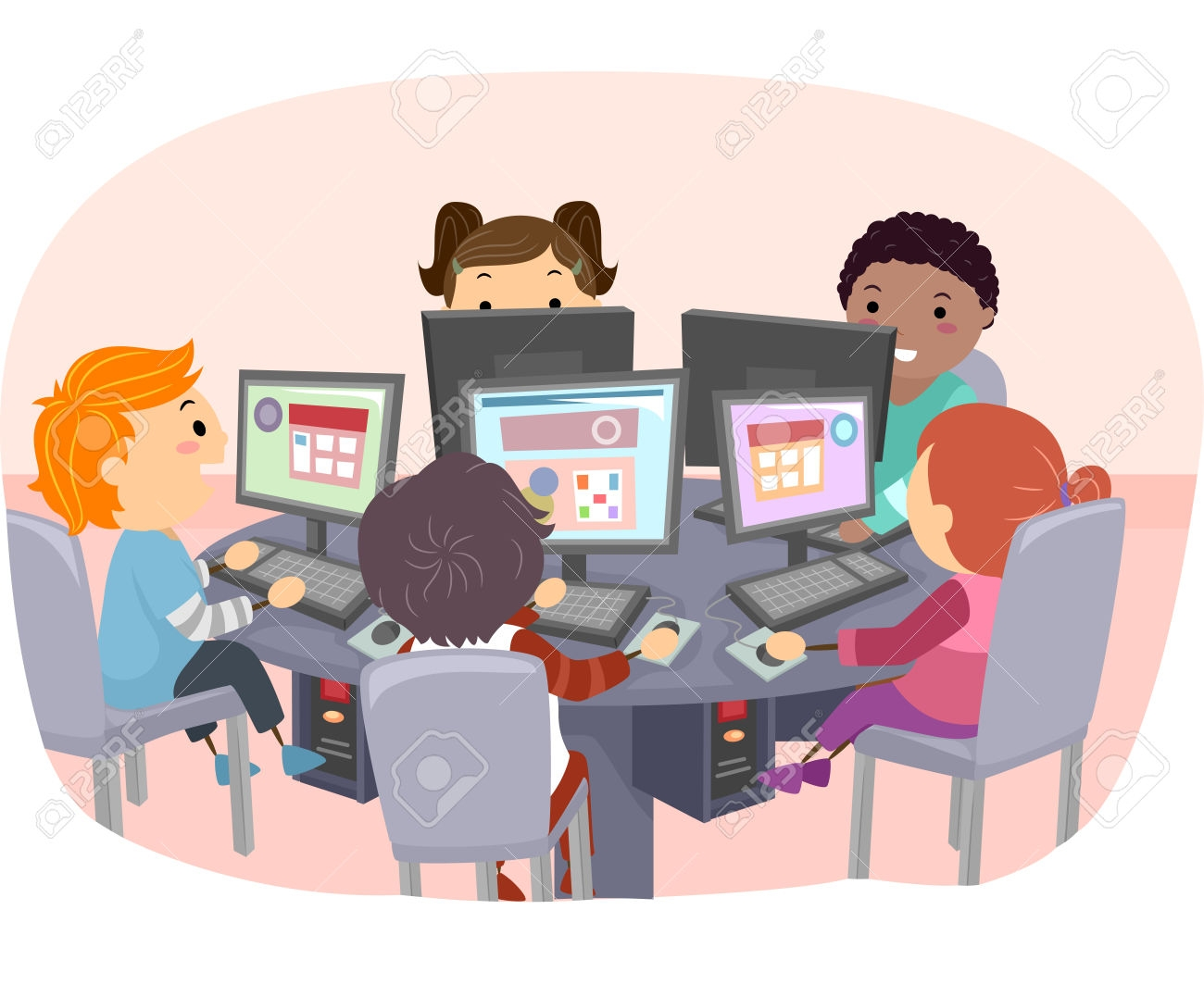 Technology clipart computer kid BBCpersian7 ClipartFest lab with collections