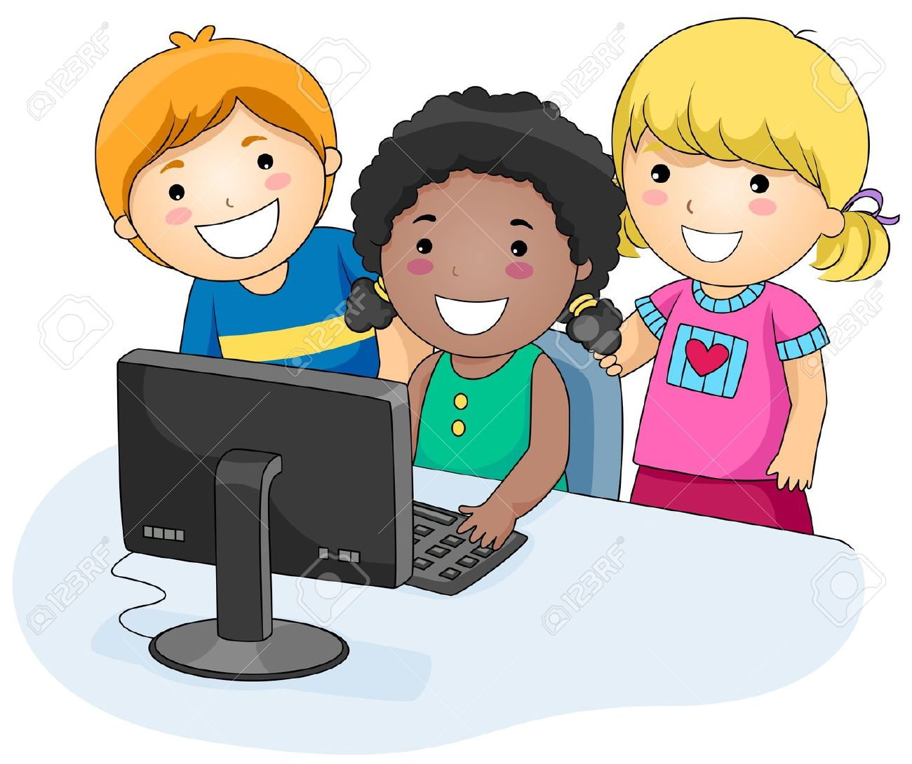 Technology clipart computer kid Clipart Kids Group for collection