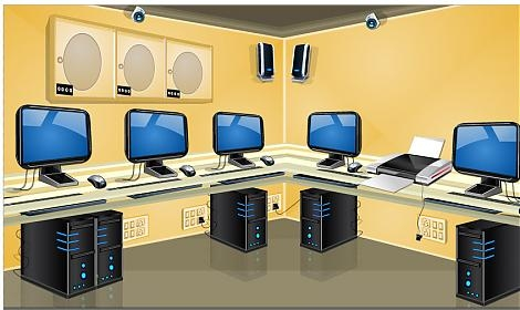 Technology clipart computer room Clipart Cliparts room Room New