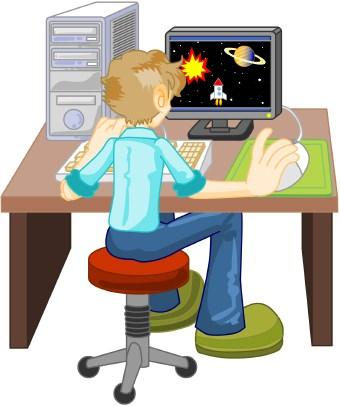 Desk clipart computer Technology Art Computer  Free