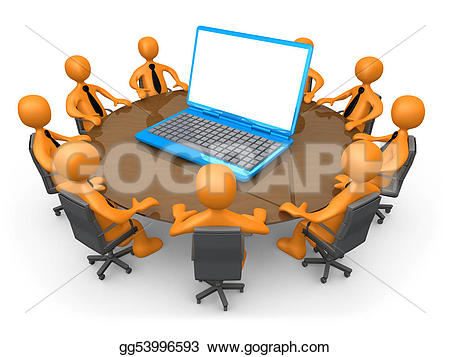 Technology clipart corporate team Drawing Clipart Technology meeting GoGraph