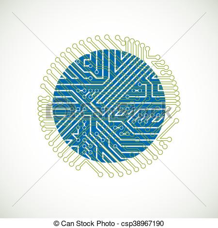 Technology clipart element Of connections element abstract illustration