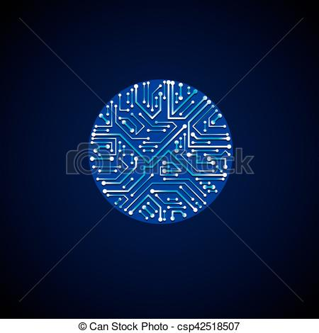 Technology clipart element Of shape in communication abstract