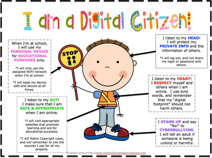 Technology clipart internet safety Pin  and Citizenship Students