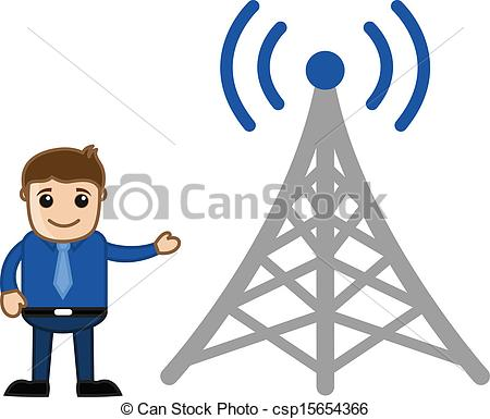 Towers clipart network tower Technology  Vectors wireless