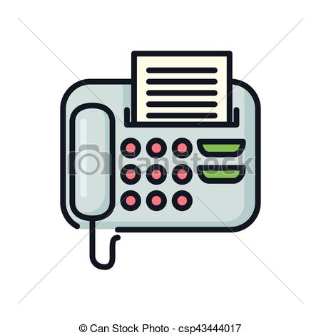 Technology clipart office equipment Clip csp43444017 office office Vector