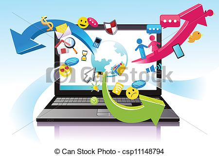 Technology clipart royalty free Information illustration technology of Information