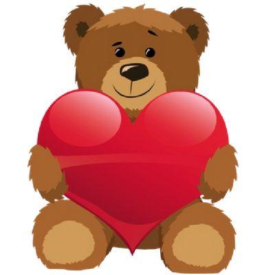 Teddy clipart cute heart #4