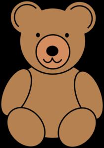 Teddy clipart baby bear  Cute bear clip bear