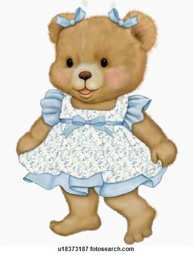 Teddy clipart baby blue Explore Cute Bear dress in