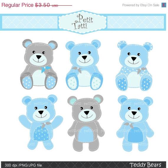 Teddy clipart baby blue ON clipart SALE bear art