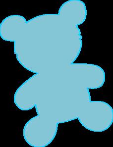 Teddy clipart baby blue Baby Blue Clker Clip Art
